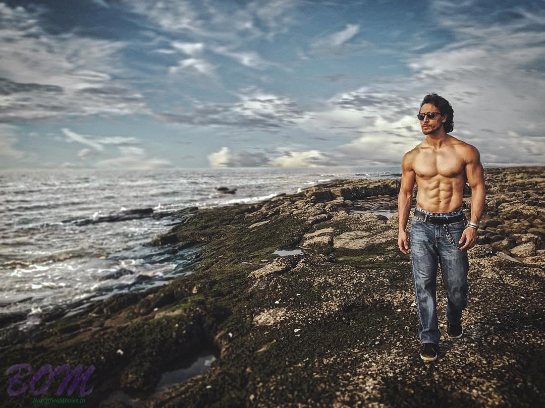Tiger Shroff flaunting his chiselled body in these pics